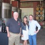 ike with wine tour guests